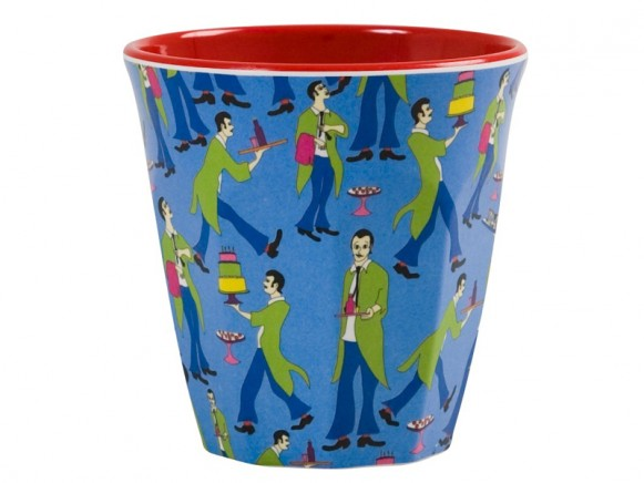 Melamine cup with waiter print by RICE