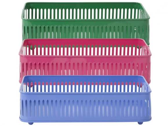 Metal basket in assorted colours by RICE Denmark