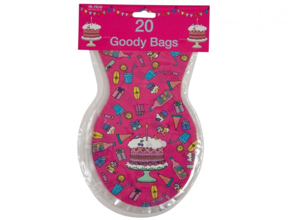 Goodie bags in fuchsia by RICE