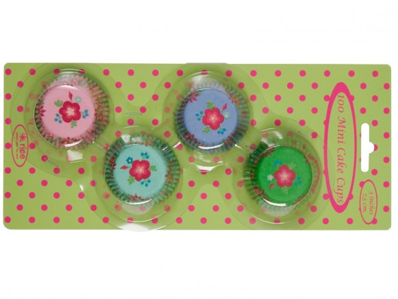 Mini cake cups in assorted flower prints by RICE