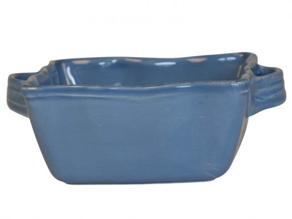 Square small oven dish in dusty blue by RICE Denmark