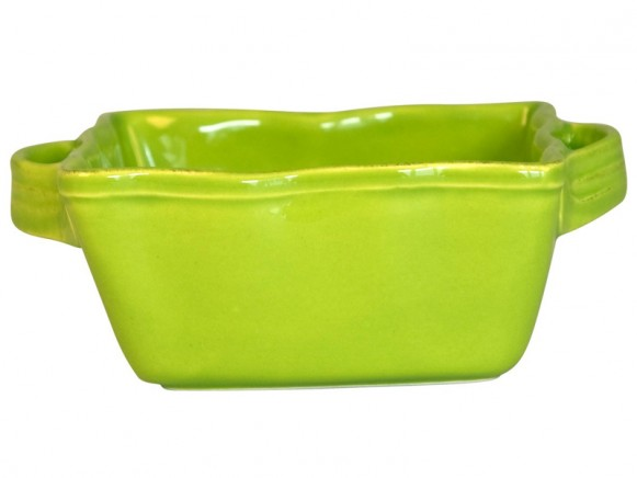 Square small oven dish in green by RICE Denmark