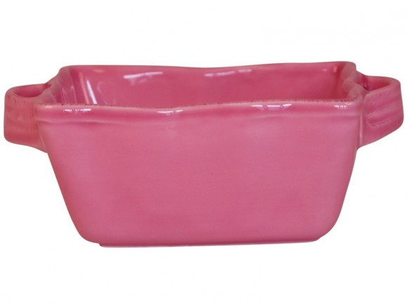 Square small oven dish in pink by RICE Denmark