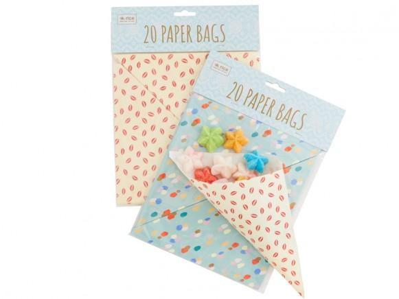 RICE paper bags triangular