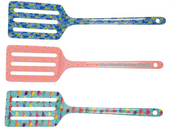Palette spoon in assorted entertaining prints by RICE