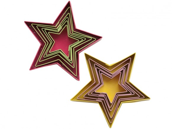 Star shaped cookie cutters by RICE Denmark