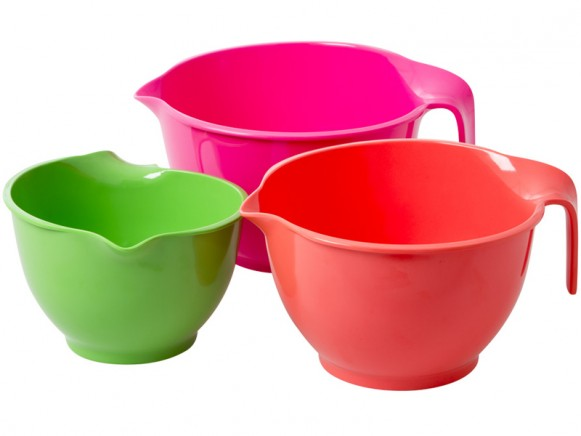 Melamine mixing bowls by RICE Denmark