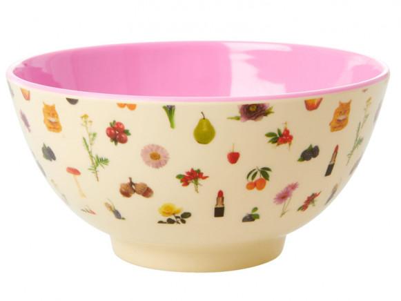 RICE Melamine Bowl LIPSTICK FALL