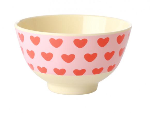 RICE Melamine Bowl SWEET HEARTS small