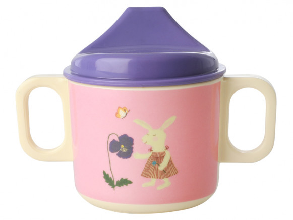 RICE Sippy Cup BUNNY pink