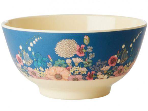 RICE Melamine Bowl FLOWER COLLAGE