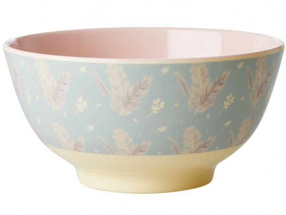 RICE Melamine Bowl FEATHERS