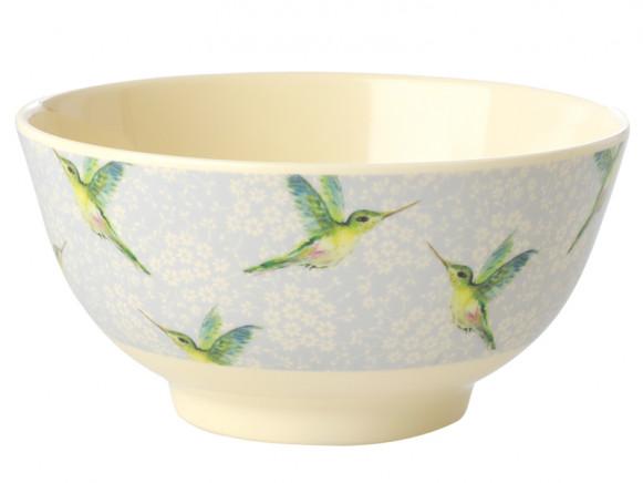 RICE Melamine Bowl HUMMINGBIRD