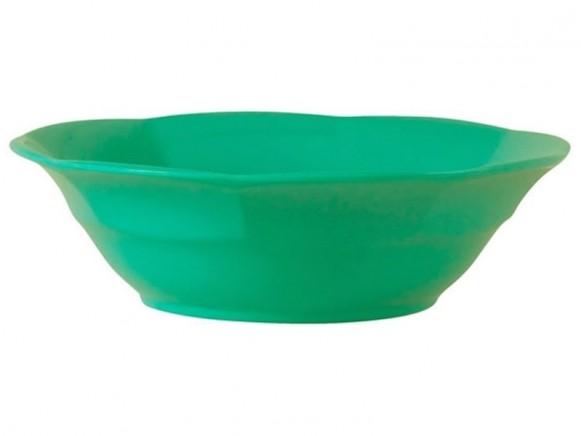 Melamine soup bowl by RICE Denmark in jade green