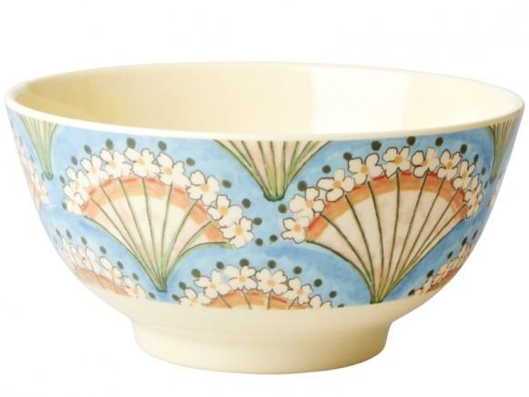 RICE Melamine Bowl FLOWER FAN
