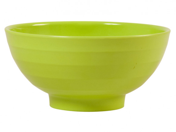 Large melamine bowl in green by RICE Denmark