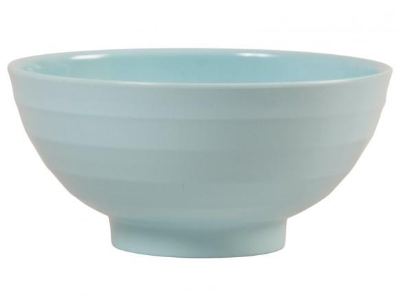 Large melamine bowl in dark mint by RICE Denmark