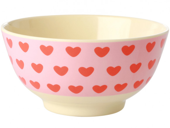 RICE Melamine Bowl SWEET HEARTS