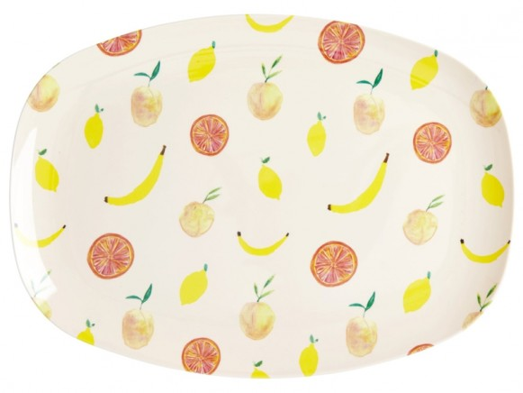 RICE Rectangular Plate HAPPY FRUITS