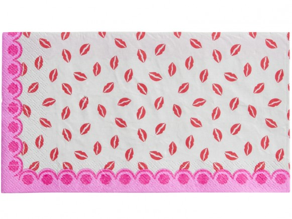 RICE paper lunch napkins kiss print