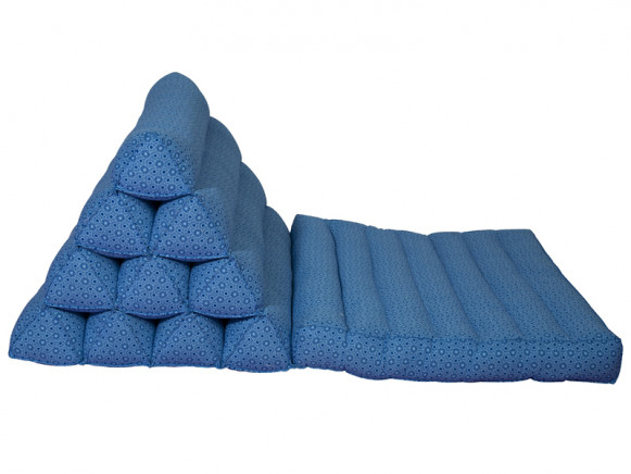 Blue mattress with bolster by RICE Denmark