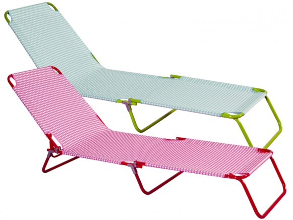 RICE sun bed with polka dots