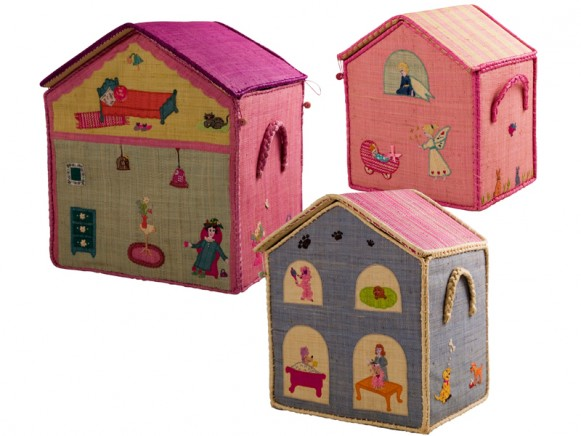 House shaped toy baskets for girls by RICE