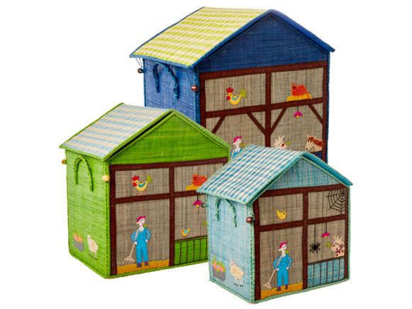RICE Toy Basket FARM