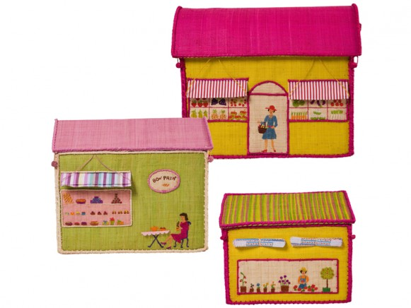 Toy baskets with girls city by RICE Denmark