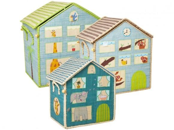 RICE Toy Basket JUNGLE HOUSE