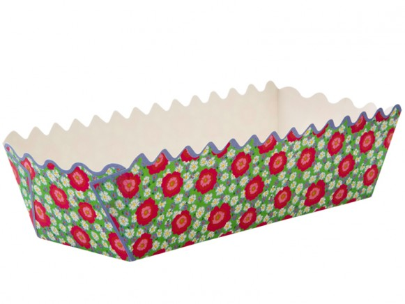 Paper baking tray with peony print by RICE Denmark