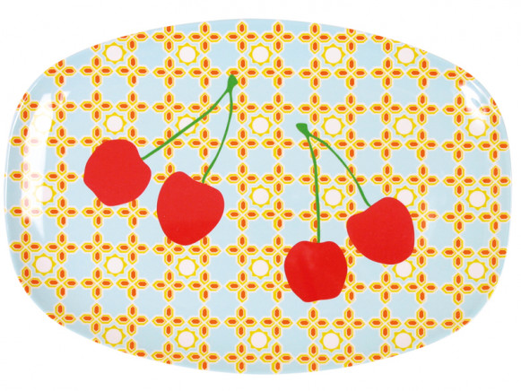 Melamine plate with cherries by RICE