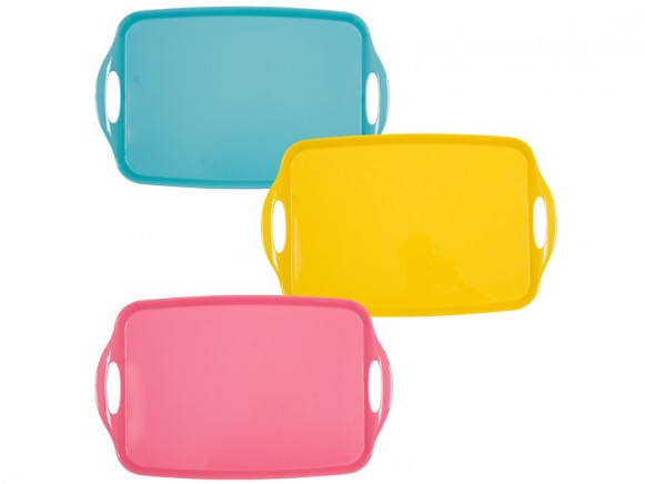 Tray in assorted solid colours by RICE