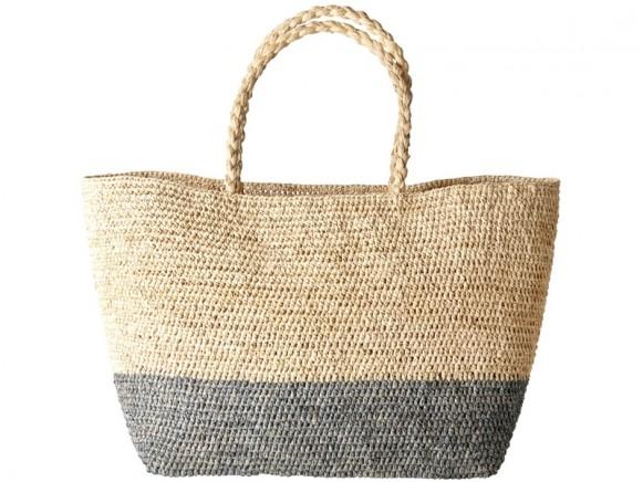 RICE Raffia Shopping Bag GREY
