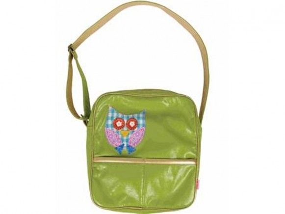 RICE biker bag with owl in green