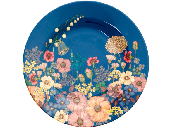 RICE melamine side plate FLOWER COLLAGE