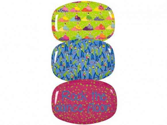 Melamine plate with rocking prints by RICE