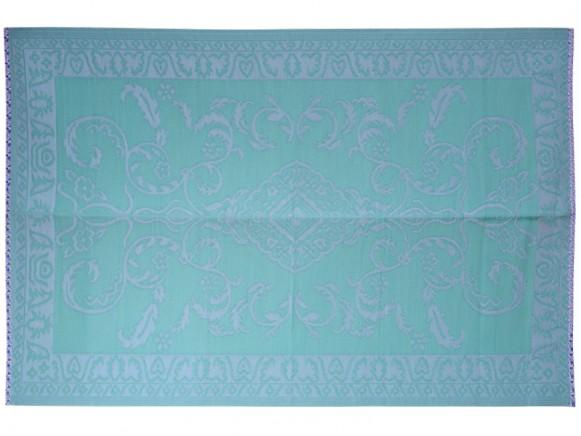 Large RICE floor mat aqua blue