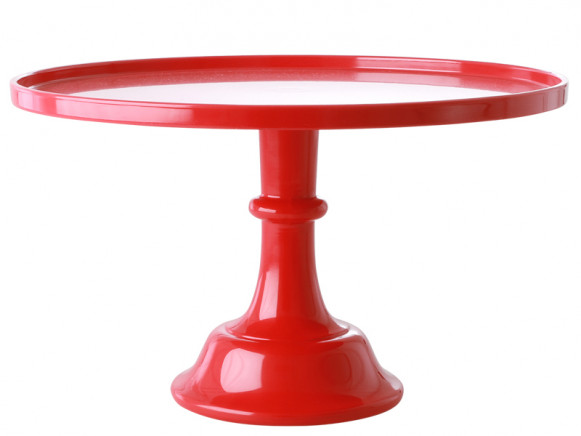 RICE Melamine Cake Stand BERRY RED