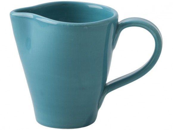 RICE milk jug in turquoise