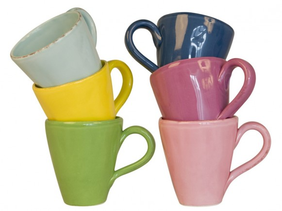 Large organic shaped mug by RICE Denmark
