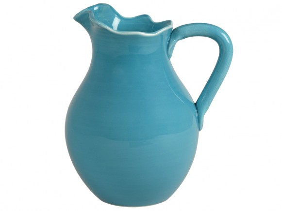 Large Italian tableware jug in turquoise by RICE