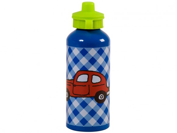 Kids aluminum drinking bottle with car by RICE Denmark
