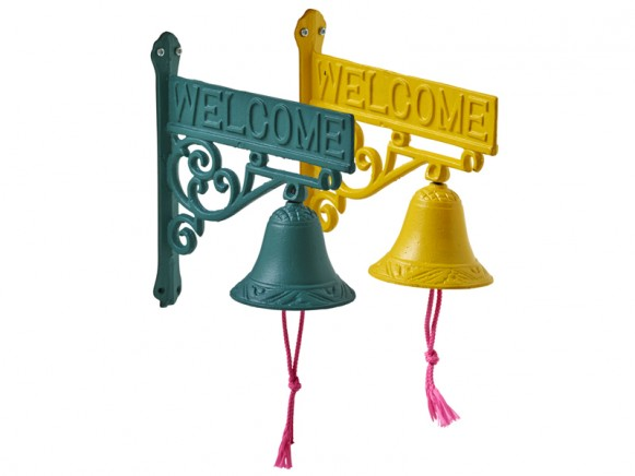 RICE Welcome Door Sign with Bell