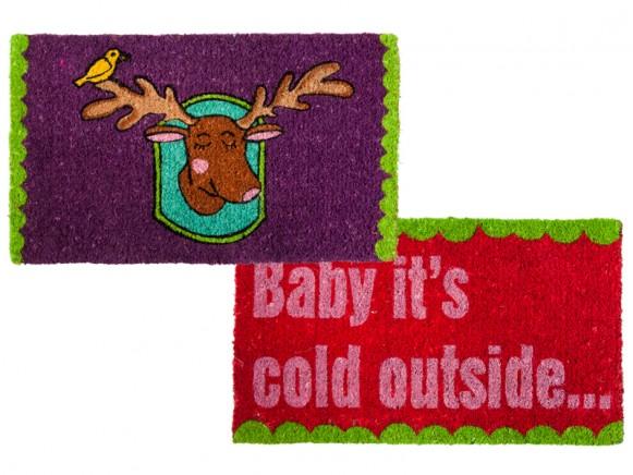 Door mat with winter print by RICE
