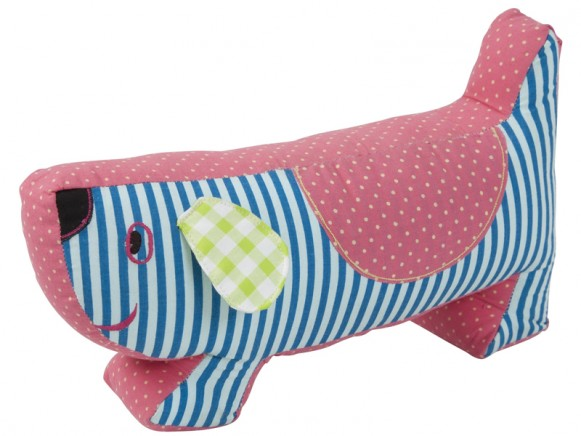 Dog shaped door stopper by RICE Denmark