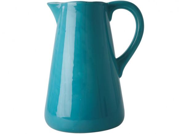 XLarge floor vase in turquoise by RICE Denmark