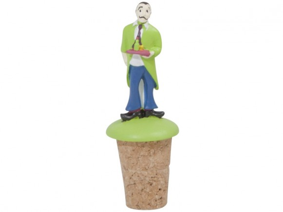 Wine stopper with waiter decoration by RICE