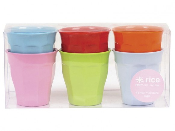 Small melamine cups (bright colours) by RICE