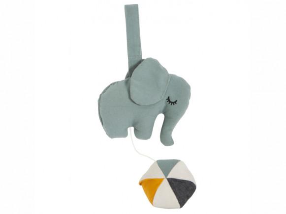 Roommate Music Mobile ELEPHANT greyish green